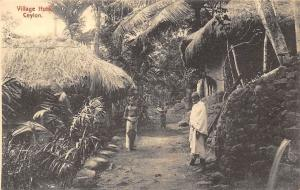 Sri Lanka, Ceylon, Village Huts, Native People