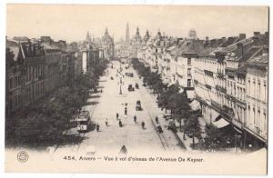 Anvers - Vue a vol d'oiseau de I'Avenue De Keyser