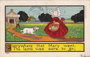 Sunbonnet Girls Little Bo Peep With Her Sheep 1907