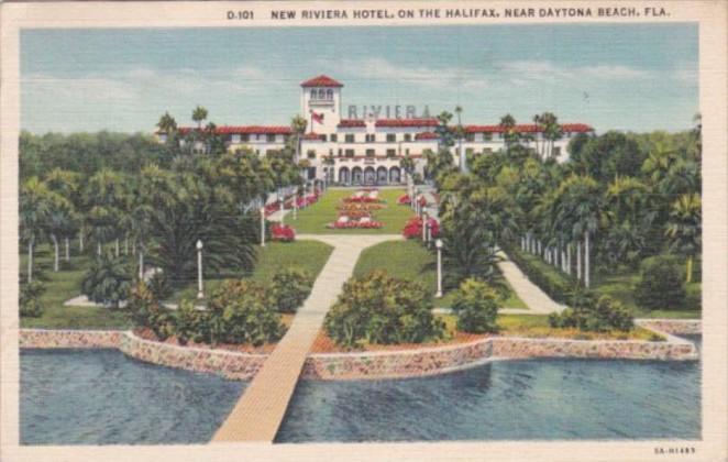 Florida Daytona New Riviera Hotel 1937 Curteich