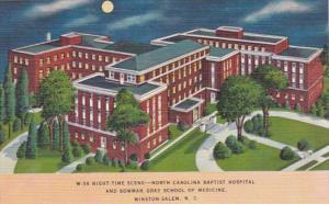 North Carolina Winston Salem North Carolina Baptist Hospital At Night