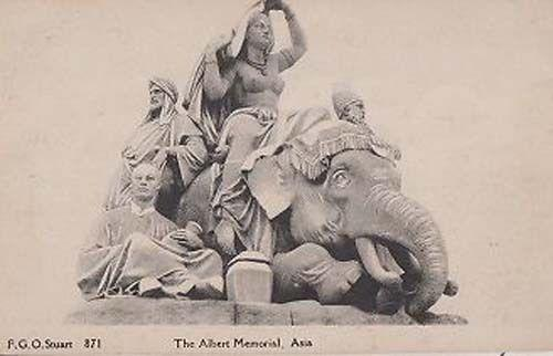The Albert Memorial Museum Asia Asian Statue Sculpture Old Rare Postcard