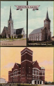 REGINA , Saskatchewan , Canada , 00-10s ; Three Churches