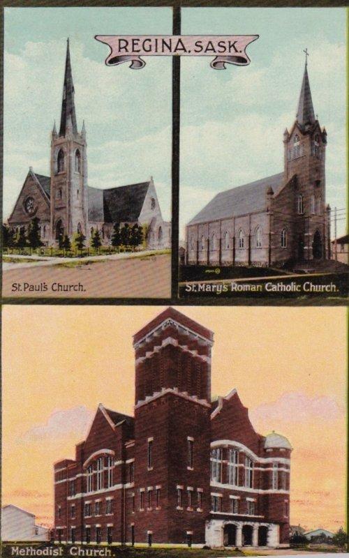 REGINA , Saskatchewan , Canada , 00-10s ; Three Churches