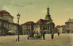 czech, MLADÁ BOLESLAV, Novoměstské Náměstí, Market Place (1910) Stamp