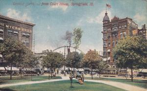 Looking Northwest from Court House, Springfield, Illinois, PU-1913