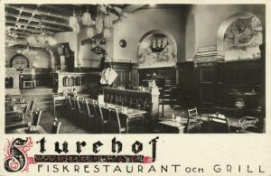 sweden, STOCKHOLM, Sturehof Fiskrestaurant och Grill, Interior (1934) RPPC