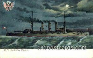 US Battle Ship Virginia Military Battleship Unused light wear close to grade 1