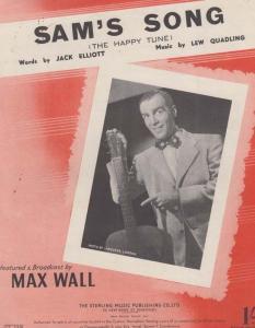 Sams Song Max Wall 1950s Sheet Music