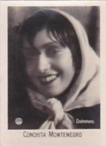 Orami Cigarette Card Film Favourites Series C No 262 Conchita Montenegro