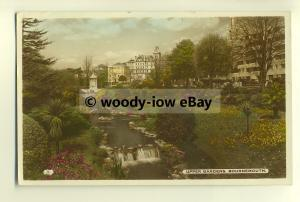 tp8376 - Hants - The Upper Gardens by Stream c1957, in Bournemouth -  postcard