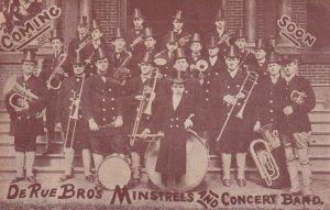 West Point , New York , 1909 ; De Rue Bro's Minstrels & Concert Band