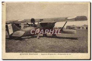 Old Postcard Jet Air Force flight Device Breguet 19 Preparations
