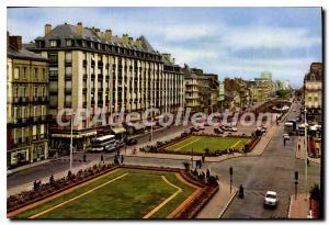 Postcard Modern Rennes Place De La Republique