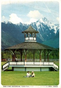 Canada British Columbia Fort Steele Band Stand Fisher Peak In Background