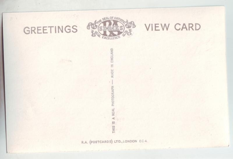 P1136 vintage RPPC unused postcard view bowness bay dock boats etc great britain