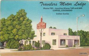 1940s Travelers Motor Lodge Roadside Cortez Colorado Western Associates 5967