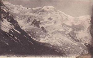 France Chamonix Mont Blanc Rochers du Grand Mulet et Pie Wilson