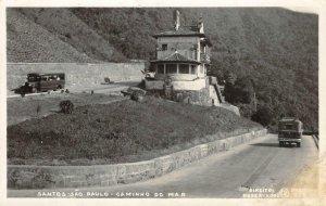 RPPC Santos, São Paulo BRAZIL Caminho do Mar Vintage Postcard