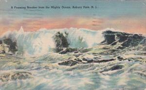 New Jersey Asbury Park A Foaming Breaker From The Mighty Ocean 1944
