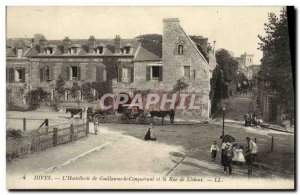 Old Postcard Dives William the Conqueror the Hostellerie and Rue de Lisieux