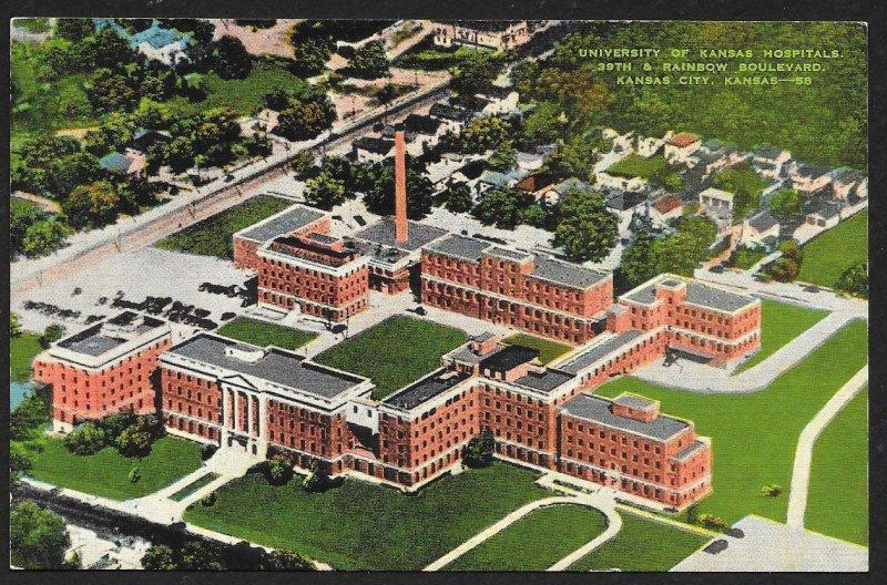 University of Kansas Hospitals Kansas City Kansas Unused c1940s