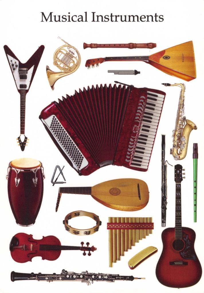 Postcard MUSICAL INSTRUMENTS from Russia / HipPostcard