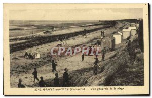 Old Postcard Graye sur Mer General view of the Beach