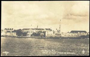 curacao, D.W.I., WILLEMSTAD, Puerto, Palacio del Gobernador (1930s) RPPC
