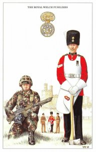 Postcard The British Army Series No.38 The Royal Welch Fusiliers by Geoff White
