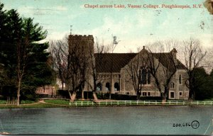 New York Poughkeepsie Chapel Across Lake Vassar College 1913