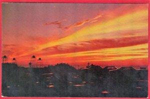 SUN SET AS SEEN FROM SKY LINE INN ON EQUINOX MT. MANCHESTER, VERMONT