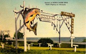 Duluth, Minnesota - Fish Fry Lodge - Souvenir of North Shore Drive - c1940