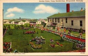 Kentucky Morganfield Camp Breckenridge Garden Scene Curteich