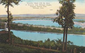 Scenic View, Horseshoe Island, Proposed National Park, McGregor, Iowa 1910-20s