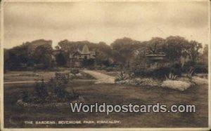 The Gardens, Beveridge Park Kirkcaldy Scotland, Escocia Writing on back