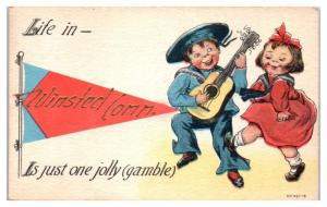 1910s Life in Winsted, CT Is Just One Jolly Gamble Postcard