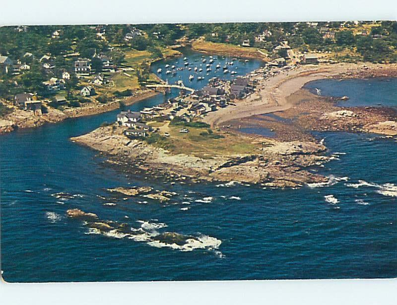 Unused Pre-1980 AERIAL VIEW OF TOWN AND PERKINS COVE Ogunquit Maine ME F4367