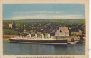 Ocean Liner & The Nova Scotian Hotel, Halifax, Nova Scotia, Canada, 1910-1920s