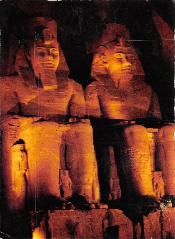 Egypt Upper Abu Simbel Temple Night view
