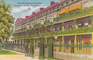 Louisiana New Orleans Pontalba Aaprtment Building At Jackson Square