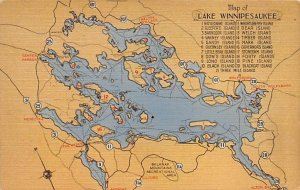 Maps Lake Winnipesaukee New Hampshire, USA Unused