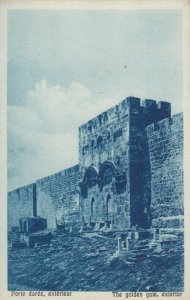 JERUSALEM, Israel, 10-20s; The golden gate, exterior
