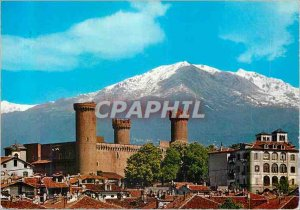 Postcard Modern Ivrea the Chateau du Verde Account and Mombarone
