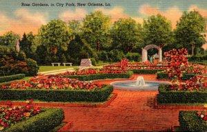 Louisiana New Orleans Rose Gardens In City Park Curteich