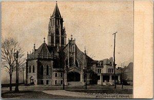 1912 Williamsport, Pennsylvania Postcard PINE STREET M.E. CHURCH Building View