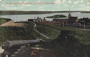 Halifax Harbour from Citadel, showing George's Island, Halifax. Canada,00-10s