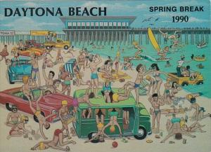 Florida Daytona Beach Spring Break 1990