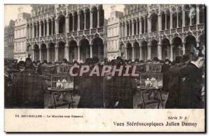Stereoscopic Card - Brussels - The March of Birds - Julien Damoy - Old Postcard