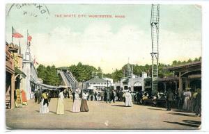 White City Amusement Park Worcester Massachusetts 1909 postcard